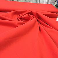 Батист однотонный красный, фото 1