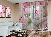 """ФотоТюль """"Королевские розы"""" (2,5м*1,50м, на длину карниза 1м)"""