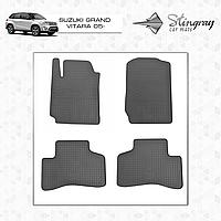 Комплект резиновых ковриков Stingray для автомобиля  SUZUKI GRAND VITARA 2005-     4шт.