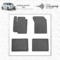 Комплект резиновых ковриков Stingray для автомобиля  SUZUKI SWIFT 2005-     4шт.