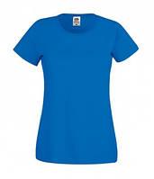 Ярко-синяя женская футболка для молодежи Original