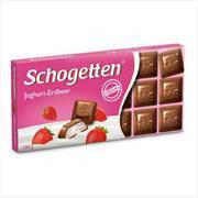 Шоколад Schogetten (Шогеттен) Йогурт - клубника, 100 г