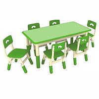 Столик со стульчиками Bambi Table 3-4 Зелено-белый