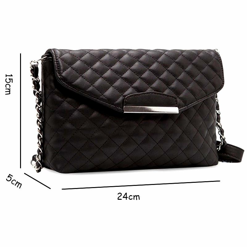 Маленькая черная сумка на плече из мягкой кожи PU