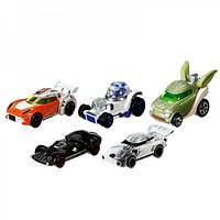 Машинки Хот Вилс набор из 5 машинок героев Star Wars Hot Wheels CGX36