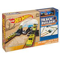 Трек Хот Вилс Hot Wheel Конструктор Трасс базовый набор с машинкой Workshop Track Builder Spin Turn