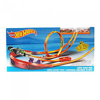Трек Хот Вилс Hot Wheels Американские горки Super Track Pack Playset with 2 Cars, фото 1