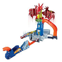 Трек Хот Вилс Hot Wheels Битва с драконом Dragon Blast Playset, фото 1