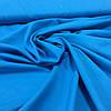 Батист однотонный синий васильковый