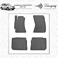 Комплект резиновых ковриков Stingray для автомобиля  SUBARU FORESTER 2008-      4ШТ.