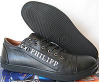 Philipp Plein мужские туфли кеды слипоны кожа Филипп Плэйн обувь