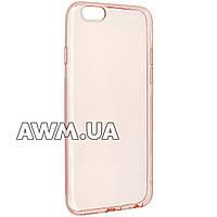Силиконовый чехол накладка Ou case для Apple iPhone 6 / 6S розовый