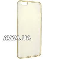 Силиконовый чехол накладка Ou case для Apple iPhone 6 plus / 6S plus золотой