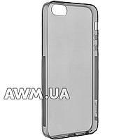 Силиконовый чехол накладка Ou case для Apple iPhone 5 / 5S серый