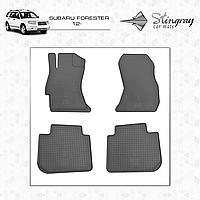 Комплект резиновых ковриков Stingray для автомобиля  SUBARU FORESTER 2012-     4ШТ.
