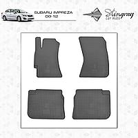 Комплект резиновых ковриков Stingray для автомобиля  SUBARU IMPREZA 2008-     4шт.