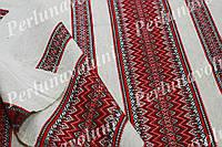 Ткань для вышиванок с украинским орнаментом Рандеву ТДК-110 1/1 декоративка,декоративна тканина, ткан