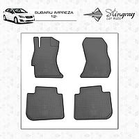 Комплект резиновых ковриков Stingray для автомобиля  SUBARU IMPREZA 2012-    4шт.