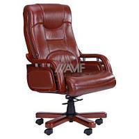 Кресло для руководителя РИЧМОНД, кожа люкс коричневая (642-B+PVC)