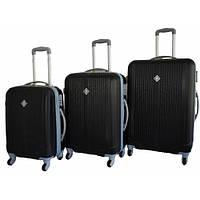 Дорожный чемодан Bonro Tour набор 3 штуки черный