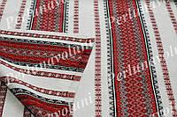 Ткань с украинской вышивкой Мистраль ТДК-60 1/1, 1/6 столовый текстиль,ткань с орнаментом,декоративн