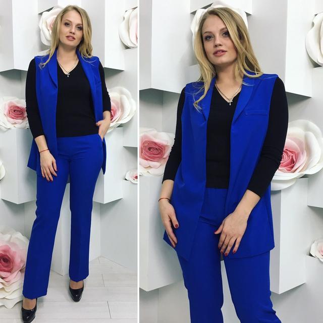 Женские модные деловые и повседневные костюмы больших размеров