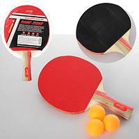 Ракетка для настольного тенниса за 1шт 3 слоя в слюде 17*28*5см MS 0222