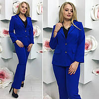 Костюм деловой двойка пиджак на подкладке и брюки большие размеры 3 цвета DBTdi02, фото 1