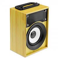 Портативная bluetooth колонка MP3 плеер KTS-668 Light Wooden, фото 1