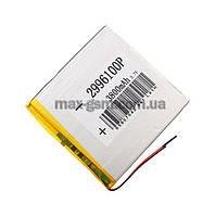 Аккумулятор Universal (Li-ion, 3.7V) 2996100P size: 100x100x2.5mm. (3800mAh)