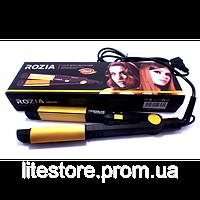 Утюжок для выпрямления и завивки волос Rozia HR-705 с турмалиновым покрытием