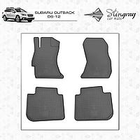 Комплект резиновых ковриков Stingray для автомобиля  SUBARU OUTBACK 2006-      4шт.