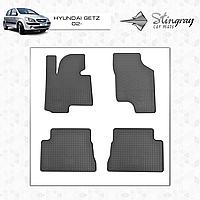 Комплект резиновых ковриков Stingray для автомобиля  Hyundai Getz 2002-    4шт.