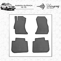 Комплект резиновых ковриков Stingray для автомобиля  SUBARU OUTBACK 2012-      4шт.
