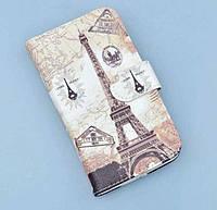 Чехол-бумажник с рисунком для Lenovo A536