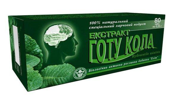 Экстракт Готу Кола (Элит-Фарм) 80 табл.