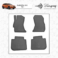 Комплект резиновых ковриков Stingray для автомобиля  SUBARU XV 2012-     4шт.