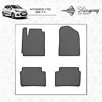 Комплект резиновых ковриков Stingray для автомобиля  Hyundai i10 2008-      4шт.