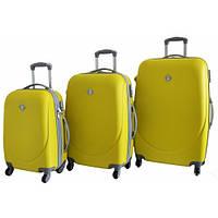 Дорожный чемодан Bonro Smile набор 3 штуки желтый