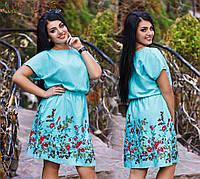 Летнее платье с вышивками