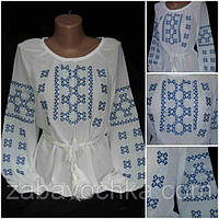 Красивая блуза с вышивкой, S-4XL р-ры,