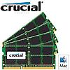 Память Crucial 32GB (4x8GB) 204-pin SODIMM DDR3 PC3-12800 Memory Module Kit for Mac Apple
