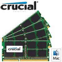 Память Crucial 32GB (4x8GB) 204-pin SODIMM DDR3 PC3-12800 Memory Module Kit for Mac Apple