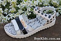 Белые сандалии в горошек на девочку тм Том.м р. 34,35