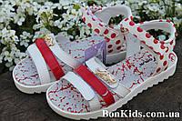Босоножки для девочки в красный горошек, открытые сандалии тм Том.м р. 32,34,35,37