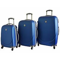 Дорожный чемодан Bonro Smile набор 3 штуки синий