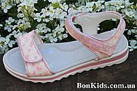 Розовые босоножки для девочки сердечки тм Том.м р. 36,37
