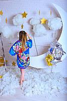 Домашнее женское платье-кимоно из шелка
