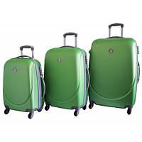 Дорожный чемодан Bonro Smile набор 3 штуки салатовый