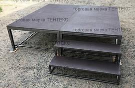 Пол для шатров, полы для павильонов и палаток 1,х2х0,5м с доп. ножками